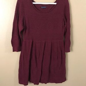 AE American Eagle Maroon Knit Dress
